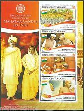TOGO 2015 100th ANNIVERSARY OF THE RETURN OF MAHATMA GANDHI TO INDIA SHT  NH