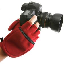 MULTI SHOOTING GLOVES Mittens Photographers Winter Travel Outdoor Sport M/Red