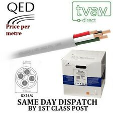 QED QX 16/4 PVC Flame Retardant 4 Core Speaker Cable - WHITE - Price Per Metre