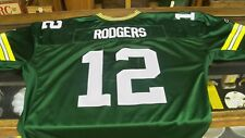 Aaron Rodgers Green Bay Packers Green Authentic Jersey by Reebok SZ 60 4XL Mens