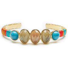 "NEW HIPANEMA Gold/Amber ""GIGI"" Gem Stone Bangle Bracelet -SALE"