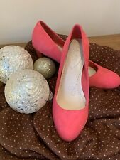 Clarks Bright Pink Leather Suede Shoes