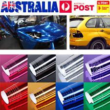 AU Mirror Chrome Vinyl Wrap Film Car Stickers Sheet Decals Glossy 152 * 60 cm