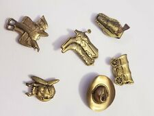 Western Indian Themed Button Covers Gold Tone