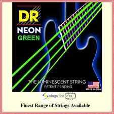 DR Strings Hi-Def Coated NEON Green  Electric Bass Guitar Strings 40 - 100