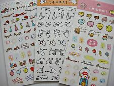 3 sheets Diary Schedule Reminder Planner Calendar Deco Scapbook Stickers