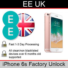EE UK iPhone 6s Factory Unlocking Service (FAST 1-3 WORKING DAY SERVICE)