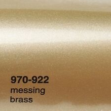 (17,09€/m²) 0,5m x1,52m Oracal 970RA Messing Glanz 922 Autofolie Folie