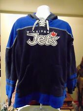 NHL Winnipeg Jets Men's Reebok embroidered  Hoodie Zippered Large