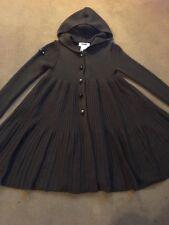 Stunning Little Girls Knitted Swing Cardi Coat Age 6 Rykiel Enfant Merino Wool