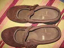 WOMENS 9.5 / 40.5 MERRELL ENCORE MJ BROWN SUEDE MARY JANE COMFORT SHOES