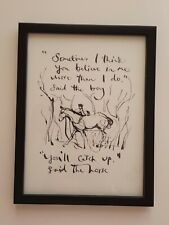 CHARLIE MACKESY FRAMED BOOK EXTRACT.  THE BOY ,THE MOLE, THE FOX AND THE HORSE.