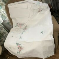 Vintage Tablecloth Chinese Embroidered Christmas with 12 napkins new old stock