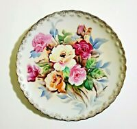 Bavaria Hand Painted Roses Plate signed by artist