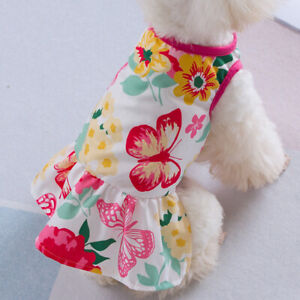 Cute Dog Dresses for Small Dogs Chihuahua Dress Skirt Puppy Cat Clothes Apparel
