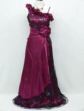 SATIN Neuf ! Robe Longue Violet Prune Rose T 42 / 44  Cérémonie Mariage Soirée