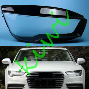 For Audi A7 / Quattro 2015-2018 Right Side Headlight Lens Cover + Sealant Glue