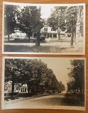 MAPLEHURST INN ANTRIM NH Main Street Dirt Road Cars 1915 2 REAL PHOTO POSTCARDS
