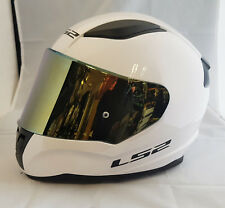 LS2 FF353 RAPID FULL FACE MOTORCYCLE HELMET XS-3XL WHITE WITH GOLD IRIDIUM VISOR