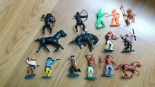 Mixed Lot of Vintage Western Plastic Figures:  Cowboys & Indians & Horses