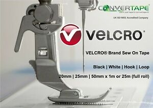 VELCRO® Brand Sew-On Hook & Loop Fastener 20,25,50mm x 25m (roll) SAVE MONEY
