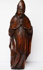 Skulptur  Bischof Geistlicher Holzfigur handgeschnitzt 17./18. Jh. Höhe 60 cm