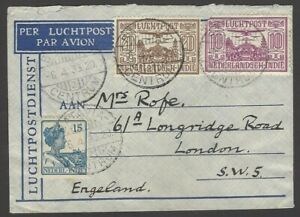 Netherland Indies 1933 Airmail cover to England