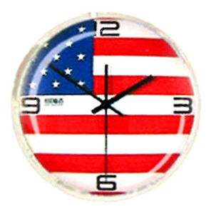 Miniature 3-piece Clocks - Mixed Theme - American Flag, Artistic, Pocketwatch