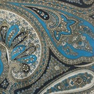 Blue Gray Paisley Ascot Cravat