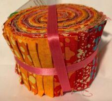 """100% Cotton - Batik Jelly Roll -  2.5"""" strips - 20pc"""