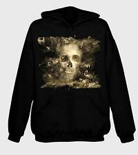 SMOKE SKULL HOODIE - Goth Gothic Horror Halloween T-Shirt - Sizes S to 2XL