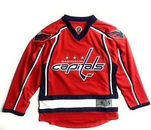 Washington Capitals NHL Licensed Team Apparel Replica Blank Jersey ,Youth 7-18 Y