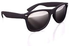 Mens Premium Wayfare Mirrored Lense Soft Frame Sunglasses, Black
