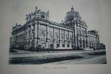 ALLEMAGNE-HANOVRE MUSEE PROVINCIAL GRAVURE PHOTO -ANTIQUE  PRINT