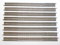 FLM PICCOLO 9100 gerades Gleis 222mm hellgrau 8 Stück (39055)