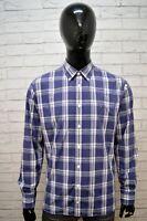 Camicia Quadretti Uomo TOMMY HILFIGER Taglia L Maglia Polo Shirt Men Custom Fit