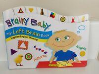 Brainy Baby Left Brain Book - Brand New!