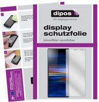 2x Sony Xperia 10 Schutzfolie klar Displayschutzfolie Folie Display Schutz dipos