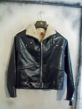 VINTAGE 40'S BELSTAFF RUBBER PERFECTO MOTORCYCLE JACKET SIZE M RONA ZIPS