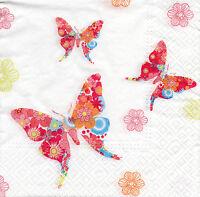 4 Servietten Motivservietten Serviettentechnik Schmetterlinge (058)
