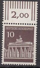 TIMBRE ALLEMAGNE  NEUF N° 368 ** PORTE DE BRANDEBOURG A BERLIN BORD DE FEUILLE