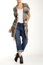 Melrose and Market Women's Green Short Sleeve Cardigan Size Medium Nwt