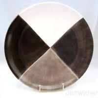 "Tabletops Unlimited QUADRETTINI GRAY Dinner Plate(s) 11 3/8"" Crazed"