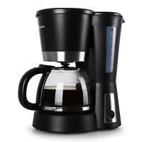MACHINE A CAFE AUTOMATIQUE CAFETIERE FILTRE 1,2L 12 TASSES NOIRE 900W INOX NEUVE