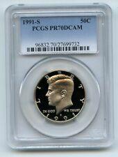 1991 S 50C Kennedy Half Dollar Proof PCGS PR70DCAM