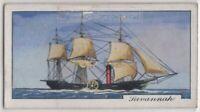 """Savannah"" American Hybrid Sailing Ship Sidewheel Steamer 1930s Trade Ad Card"