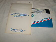 C-64 Letter Sequences/ The Long or Short of It - Commodore 64 C64