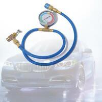 Car AC Air Conditioning R134A Refrigerant Recharge Hose w/ Pressure Gauge #B