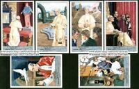 Pope Pius XII Vatican City Catholic Six c50 Y/O Trade Ad  Cards