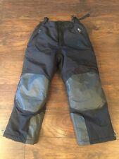 lands end black ski snow winter pants boys girls size 8